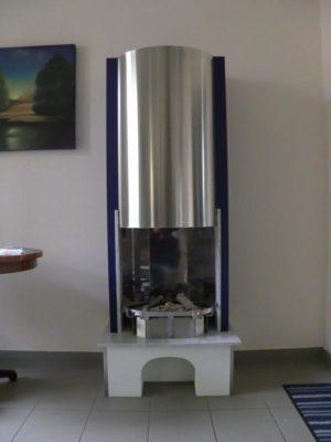"""1.770,00 € Ersparnis!<br />Bioethanolkamin """"Marco"""" mit Marmorfeuertisch und zeitlosem Edelstahldesign"""